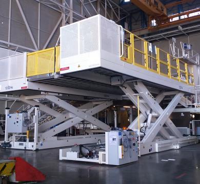 Plateformes élévatrices mobiles pour AIRBUS
